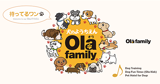 犬の幼稚園(しつけ)なら「Ola family(川崎市中原区上小田中6丁目)」